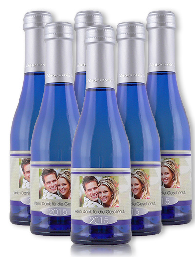 dein eigener wein frizzante secco blauflasche 200 ml. Black Bedroom Furniture Sets. Home Design Ideas